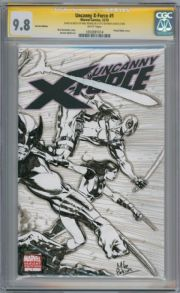 Uncanny X-Force #1 Blank CGC 9.8 Signature Series Signed Mike Perkins Double Sided Sketch Marvel